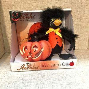 NWT Annalee Halloween LightUp Jack O Lantern Crow